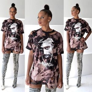 Tops - Tupac T shirt dress